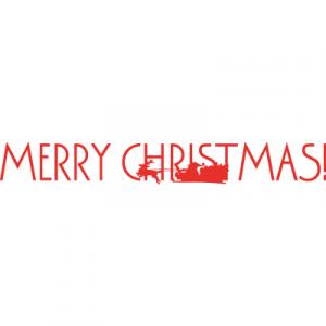 Weihnachtsaufkleber Merry Christmas