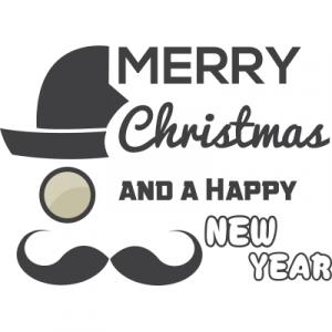 Weihnachtsaufkleber Merry Christmas 3