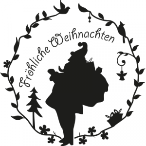 Weihnachtsaufkleber Fröhliche Weihnachten 5