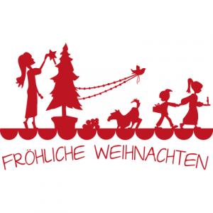 Weihnachtsaufkleber Fröhliche Weihnachten 6