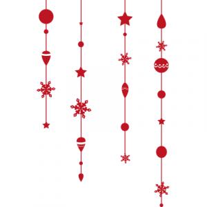 Weihnachtsaufkleber Girlande