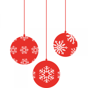 Weihnachtsaufkleber Christbaumkugel