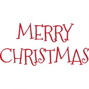 Weihnachtsaufkleber Merry Christmas 4