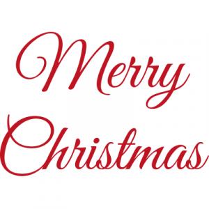 Weihnachtsaufkleber Merry Christmas 5