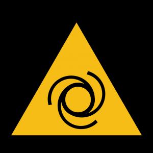 Aufkleber-Warnung vor automatischem Anlauf