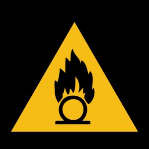 Aufkleber-Warnung vor brandfördernden Stoffen