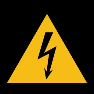 Aufkleber-Warnung vor elektrischer Spannung