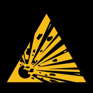 Aufkleber-Warnung vor explosionsgefährlichen Stoffen