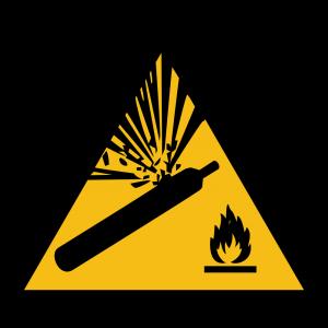 Aufkleber-Warnung vor Gasflaschen