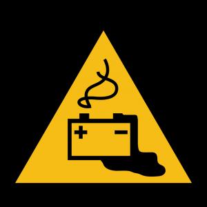 Aufkleber-Gefahren Aufladen Batterien