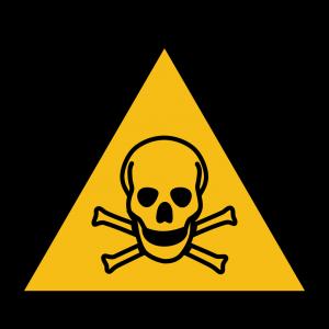 Aufkleber-Warnung vor giftigen Stoffen