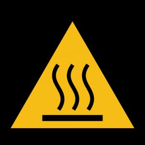 Aufkleber-Warnung vor heißer Oberfläche