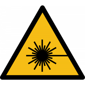 Aufkleber-Warnung vor Laserstrahl