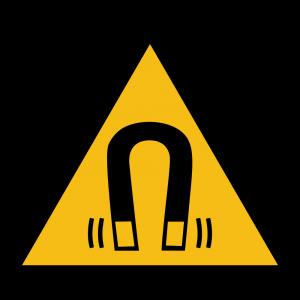 Aufkleber-Warnung vor magnetischem Feld