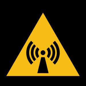Aufkleber-Warnung vor nicht ion. Strahlung