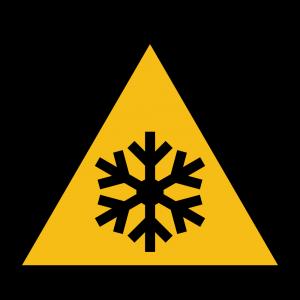 Aufkleber-Warnung vor niedriger Temperatur-Kälte