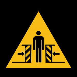 Aufkleber-Warnung vor Quetschgefahr