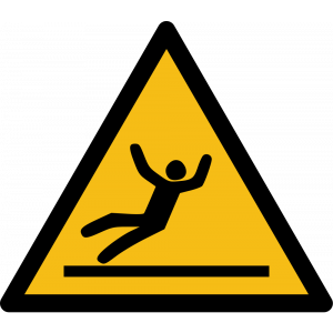 Aufkleber-Warnung vor Rutschgefahr