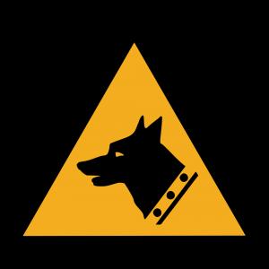 Aufkleber-Warnung vor Wachhund