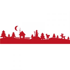 Weihnachtsaufkleber Weihnachtsland