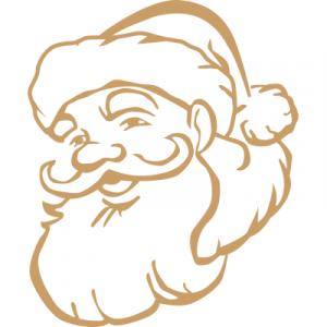 Weihnachtsaufkleber Weihnachtsmann2