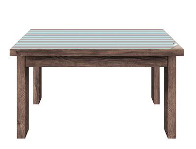 Tisch mit Klebefolie umgestalten